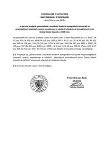 Uchwała Rady Miejskiej w Koszalinie nr XLVI/552/2010