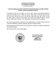 Uchwała Rady Miejskiej w Koszalinie nr XLVI/555/2010