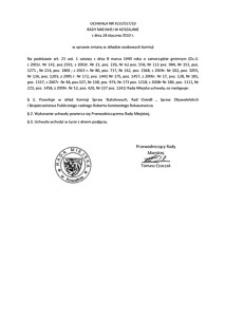 Uchwała Rady Miejskiej w Koszalinie nr XLVI/557/2010