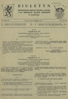 Biuletyn Wojewódzkiego Komitetu Kultury Fizycznej i Rad Okręgowych Zrzeszeń Sportowych w Szczecinie. R.2, 1956 nr 22