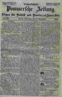 Pommersche Zeitung : organ für Politik und Provinzial-Interessen. 1853 Nr. 240
