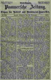Pommersche Zeitung : organ für Politik und Provinzial-Interessen. 1853 Nr. 256