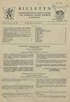 Biuletyn Wojewódzkiego Komitetu Kultury Fizycznej i Rad Okręgowych Zrzeszeń Sportowych w Szczecinie. 1956 wyd.spec.