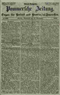 Pommersche Zeitung : organ für Politik und Provinzial-Interessen. 1853 Nr. 286