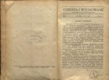 Oświata i Wychowanie. R.1, 1929 nr 1