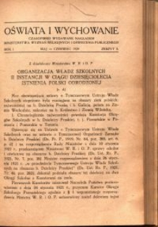Oświata i Wychowanie. R.1, 1929 nr 3