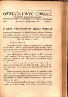 Oświata i Wychowanie. R.1, 1929 nr 4