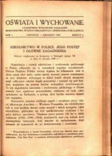 Oświata i Wychowanie. R.1, 1929 nr 5
