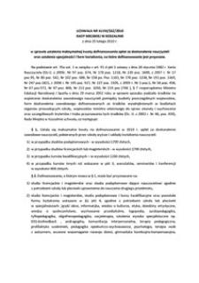 Uchwała Rady Miejskiej w Koszalinie nr XLVIII/562/2010