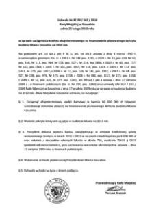 Uchwała Rady Miejskiej w Koszalinie nr XLVIII/565/2010