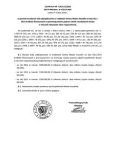 Uchwała Rady Miejskiej w Koszalinie nr XLIX/573/2010