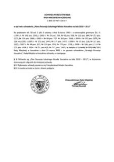 Uchwała Rady Miejskiej w Koszalinie nr XLIX/574/2010