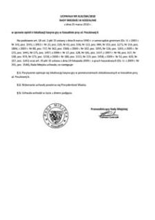 Uchwała Rady Miejskiej w Koszalinie nr XLIX/584/2010
