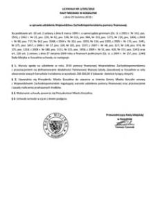 Uchwała Rady Miejskiej w Koszalinie nr LI/595/2010