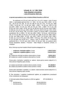 Uchwała Rady Miejskiej w Koszalinie nr LI/598/2010