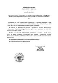 Uchwała Rady Miejskiej w Koszalinie nr LII/607/2010