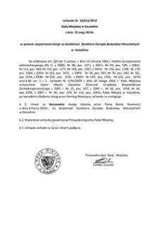 Uchwała Rady Miejskiej w Koszalinie nr LII/612/2010