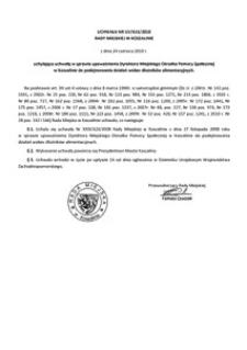 Uchwała Rady Miejskiej w Koszalinie nr LIV/616/2010