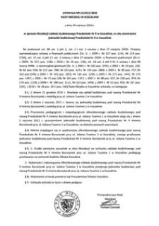 Uchwała Rady Miejskiej w Koszalinie nr LIV/621/2010