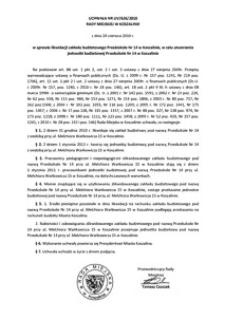 Uchwała Rady Miejskiej w Koszalinie nr LIV/626/2010