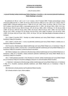 Uchwała Rady Miejskiej w Koszalinie nr LIV/637/2010