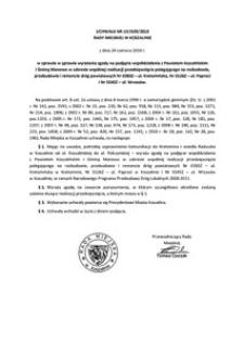 Uchwała Rady Miejskiej w Koszalinie nr LIV/639/2010