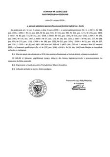 Uchwała Rady Miejskiej w Koszalinie nr LIV/642/2010