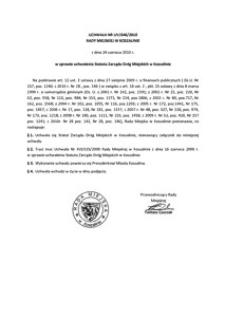 Uchwała Rady Miejskiej w Koszalinie nr LIV/646/2010