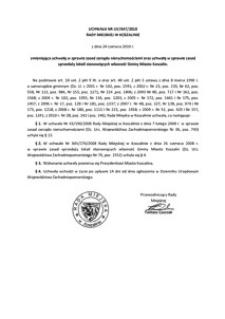 Uchwała Rady Miejskiej w Koszalinie nr LIV/647/2010