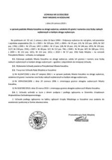 Uchwała Rady Miejskiej w Koszalinie nr LIV/654/2010