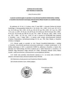 Uchwała Rady Miejskiej w Koszalinie nr LIV/657/2010