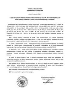 Uchwała Rady Miejskiej w Koszalinie nr LV/663/2010