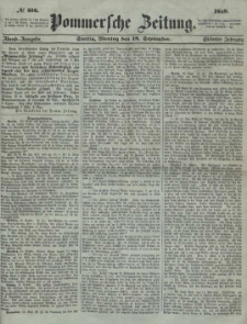 Pommersche Zeitung : organ für Politik und Provinzial-Interessen. 1859 Nr. 497