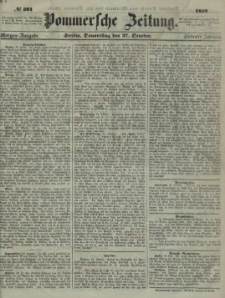 Pommersche Zeitung : organ für Politik und Provinzial-Interessen. 1859 Nr. 554
