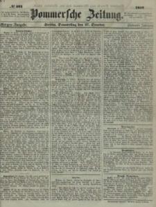 Pommersche Zeitung : organ für Politik und Provinzial-Interessen. 1859 N. 597