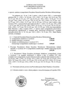 Uchwała Rady Miejskiej w Koszalinie nr IV/20/2006