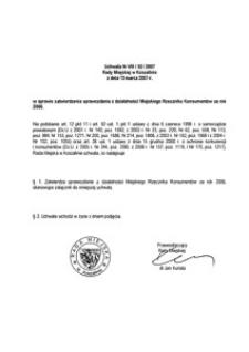 Uchwała Rady Miejskiej w Koszalinie nr VIII/52/2007