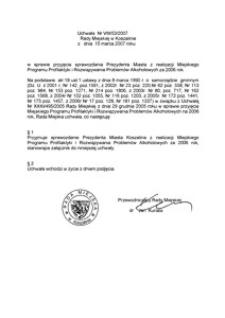 Uchwała Rady Miejskiej w Koszalinie nr VIII/53/2007