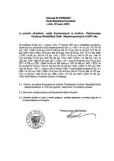 Uchwała Rady Miejskiej w Koszalinie nr VIII/60/2007
