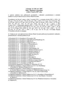 Uchwała Rady Miejskiej w Koszalinie nr VIII/64/2007
