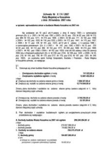 Uchwała Rady Miejskiej w Koszalinie nr X/74/2007