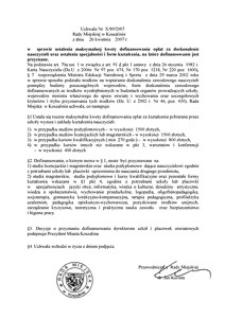 Uchwała Rady Miejskiej w Koszalinie nr X/89/2007