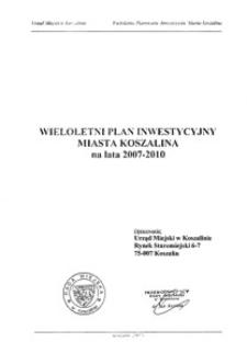 Uchwała Rady Miejskiej w Koszalinie nr XII/102/2007