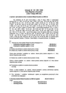 Uchwała Rady Miejskiej w Koszalinie nr XX/200/2008