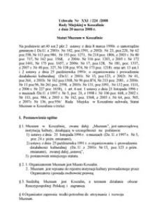 Uchwała Rady Miejskiej w Koszalinie nr XXI/224/2008