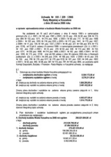 Uchwała Rady Miejskiej w Koszalinie nr XXI/229/2008