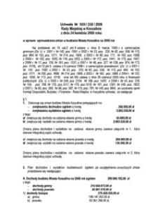 Uchwała Rady Miejskiej w Koszalinie nr XXII/238/2008