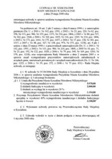 Uchwała Rady Miejskiej w Koszalinie nr XXIII/256/2008