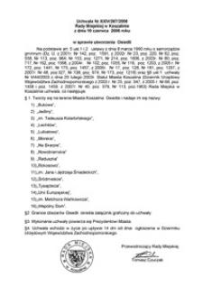 Uchwała Rady Miejskiej w Koszalinie nr XXIV/267/2008