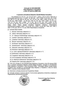 Uchwała Rady Miejskiej w Koszalinie nr XXIV/268/2008